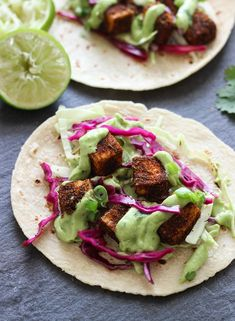 Vegan tacos made with seasoned crispy tofu, crunchy cabbage, and creamy avocado-lime sauce! I've been dreaming about going back to Maui since the day we left. Between the beautiful rainbows, the lush green mountains, the clear blue water, and cute sea turtles, it's a place that's very difficult to forget. I adored every second of …