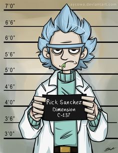 Rick and Morty - The Usual Suspect - Rick by caycowa on DeviantArt