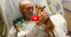 A hospital bent the rules to allow a man his last wish of getting some time with his dog. What happens next was completely unexpected.