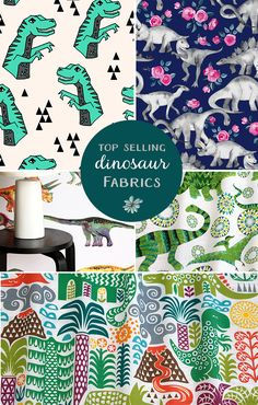 Dinosaurs will never go out of style. Perfect for girls or boys, kids or adults. Shop these designs on fabric, wallpaper or giftwrap! Sustainably printed in the USA or our Berlin factory
