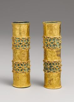 12th century hair ornaments, used for women's braids in Iran / For more info go to www.facebook.com/jillbarnettbooks