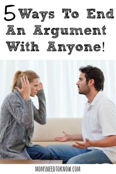 First argument while dating
