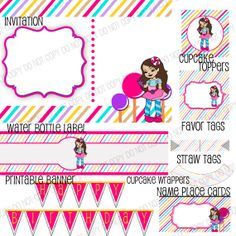 Candy Party Printables Customizable by HomegrownTrinkets on Etsy, $12.00