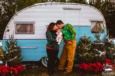 "Vintage Shasta camper photo booth, also used for photo sessions. This one was ""An Old Fashioned Christmas"". #photoshoot #vintage #camper #shasta #christmas #familyphotography #happytrailsphotobooth"