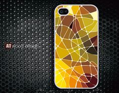 Iphone case iphone 4 case iphone 4s case iphone 4 cover colorized patches of colour yellow style graphic design printing. $13.99, via Etsy.