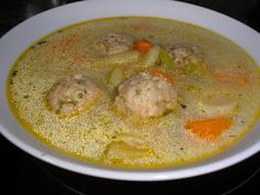 Zsuzsa ízutazásai.: Kapros zöldbableves húsgombóccal. Hungarian Cuisine, Hungarian Recipes, Soups And Stews, Cheeseburger Chowder, Paleo, Food And Drink, Cooking Recipes, Lunch, Baking