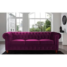Shop a great selection of Divano Roma Furniture Velvet Scroll Arm Tufted Button Chesterfield Style Sofa, Purple. Find new offer and Similar products for Divano Roma Furniture Velvet Scroll Arm Tufted Button Chesterfield Style Sofa, Purple. Cheap Sofas, Chesterfield Style Sofa, Velvet Chesterfield Sofa, Sofa, Furniture, Purple Velvet Sofa, Scroll Arm Sofa, Tufted Sofa, Velvet Sofa