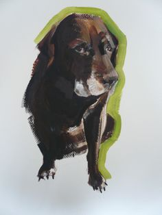 Dog paintings by Sally Muir