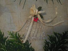 glass harp ornament Christmas ornament by TillieLuvsTreasures