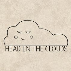 Decal Sticker Graphics Head In The Clouds Vehicle by TheHenCompany