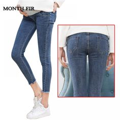 88d9be1eeea02 Maternity Clothes Elastic Soft Maternity Jeans Skinny Pregnancy Pants  Lovely Trousers for Pregnant Women Spring Summer Clothing