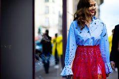 Idea to style my taupe sheer lace Mais Il Est Ou Le Soleil? under skirt, over a long shirt.
