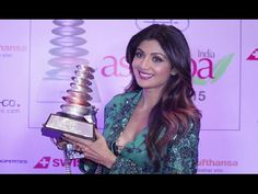 Shilpa Shetty becomes Wellness Icon Of The Year at Aisa Spa Awards 2016.