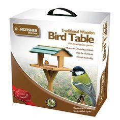 Traditional Wooden Bird Table Free Standing Birds Feeder Feeding Station