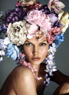 "INSPIRATION: ""Fille de Fleur"" @Vogue_Italia Dec 2011 MAKEUP: @PatMcGrathreal, PHOTO: Steven Meisel, MUSE: @Alice Cartee and Penny Kardashian"