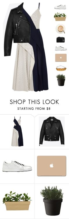 """Easy dress"" by genesis129 ❤ liked on Polyvore featuring Adeam, Yves Saint Laurent, Jil Sander, 3M, CO and Muuto"