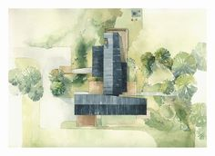 New Tree Drawing Architecture Site Plans Ideas Villa Architecture, Architecture Site Plan, Landscape Architecture Design, Architecture Graphics, Architecture Drawings, Conceptual Architecture, Colour Architecture, The Plan, How To Plan