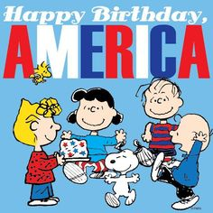 Peanuts gang.  Fourth of July