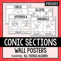 Conic Sections (Circle, Ellipse, Hyperbola, Parabola) - Wa