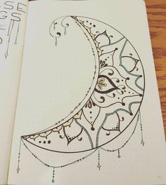 Looking into how the different phases of the moon effect our moods, then got inspired to draw this. #bujo #bulletjournal #creativity #moonphases