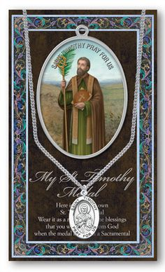 St. Timothy Medal Picture Folder by Hirten | Catholic Shopping .com