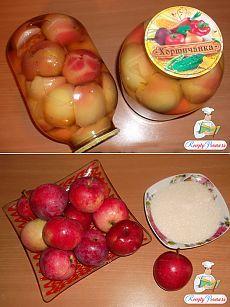 Яблоки в сиропе на зиму рецепт с фото