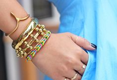 DIY Bracelet : DIY Finger Fishtail Loom Bracelet
