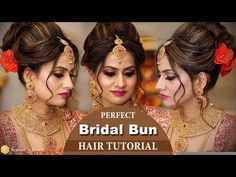 Best Bridal Hairstyle Tutorial Video | Step by Step Trendy Bridal Hairstyles | Krushhh by Konica - YouTube