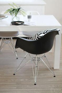 Via FruFLY | Eames DAR and DSR Chair | White | Dining Room