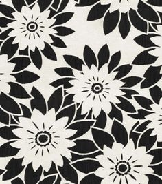 HGTV Home Upholstery Fabric Pop Art Onyx dining room chair? Upholstery Fabric Online, Furniture Upholstery, Home Decor Furniture, Pop Art, Black And White Flowers, Black White, Online Craft Store, Chair Fabric, Home Decor Fabric