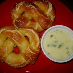 Soft Pretzels Recipe Breads, Lunch and Snacks with unsalted butter, all-purpose flour, milk, pepper jack, poblano chiles, salt, ground black pepper, coriander leaf, warm water, light brown sugar, active dry yeast, unsalted butter, kosher salt, all-purpose flour, vegetable oil, water, baking soda, eggs, cold water, sea salt, OREO® Cookies, cream cheese, soften, white chocolate