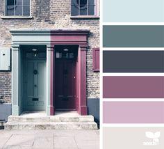 A Door Hues via @designseeds #seedscolor #color #colorpalette #color #palette #pallet #colour #colourpalette #design #seeds #designseeds