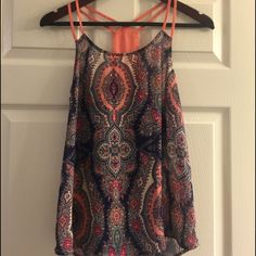 Gorgeous Top! Vibrant colored tank, perfect condition! Charming Charlie Tops Tank Tops