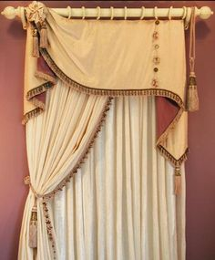 Beautiful drapery idea from eclectichomedesign.com
