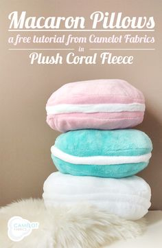 How To's Day: Macaron Pillows Tutorial | Camelot Fabrics. Freshly Made