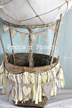 Up Up & Away Hot Air Balloon Baby Photo by PropsandPoses on Etsy