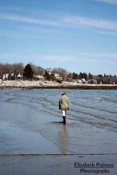 Even in early spring before it warms a walk along the beach in Maine is heavenly