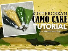 How To Make a Camouflage Pattern Buttercream Cake