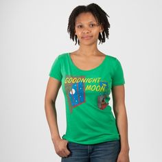 Any bunny need this shirt???  Goodnight Moon book cover women's t-shirt | Outofprintclothing.com