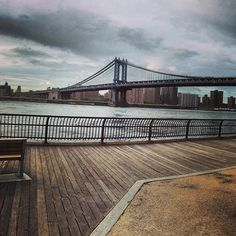 Great view of the Brooklyn bridge, plus you can get in one of the ferries and travel along the shore up to midtown - great city views.