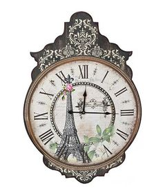 Take a look at this Eiffel Tower Antique Wall Clock by Designs Combined Inc. on #zulily today!.....want this