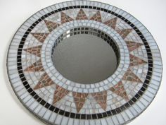 Classic Copper & White Mosaic Mirror by TheMosartStudio on Etsy