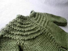 hand knit olive green baby cardigan/ jumper/ sweater by MadeWise, $40.00