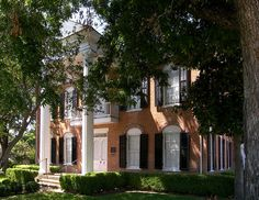 Fort House in Waco, Texas, United States. The house was added to the National Register of Historic Places on October 15, 1970. operated by Historic Waco Foundation, Edwardian Greek Revival home