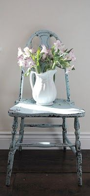 Blue Antique Chair :: Shaker :: #home