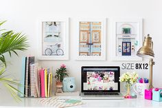 home office images, image search, & inspiration to browse every day. Desk Inspiration, Desk Inspo, Roomspiration, Home Office Decor, My New Room, Sweet Home, Gallery Wall, Diys, Room Decor