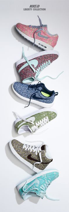 Comfort & Style. Iconic kicks meet classic prints on NIKEiD. #libertylondon