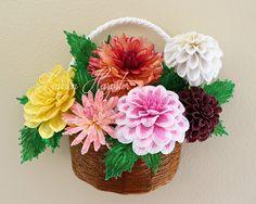 Home Page for designer Lauren Harpster's handmade French Beaded Flowers. Custom made french beaded flowers, wedding bouquets, and French Beaded Flower Tutorials