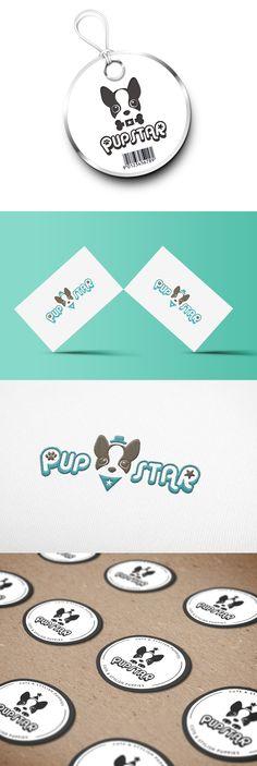 Pupstar / Design by allure3377 /  개성있는 캐릭터를 심볼로 제작한 트렌디한 디자인 #로고디자인 #로고 #강아지…