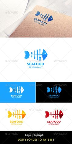 Sea Food  Restaurant Logo Template